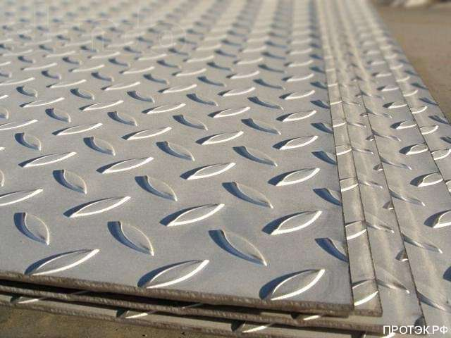 Фото - Лист рифлёный 5 мм 1250х6000мм (1м2)