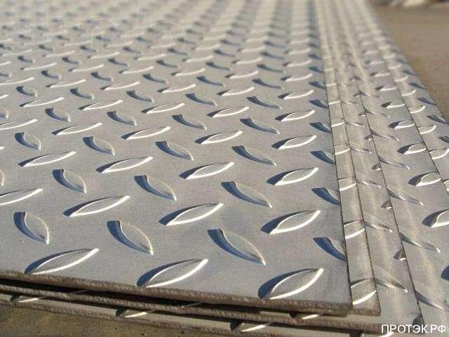 Фото - Лист рифлёный 4 мм 1250х6000мм (1м2)