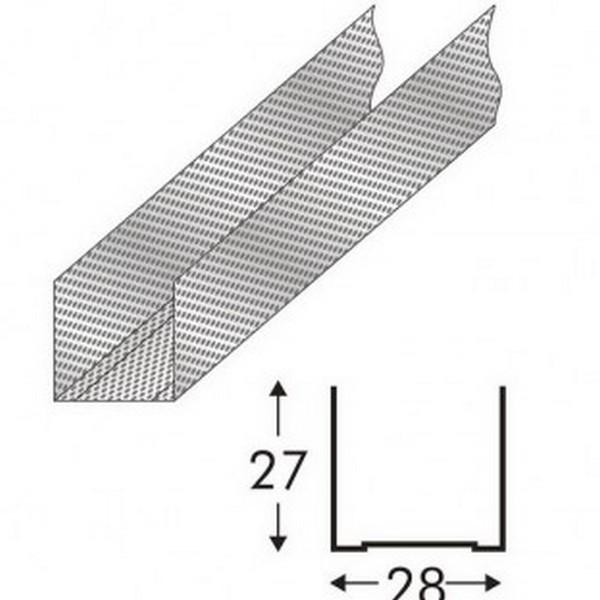 Фото - Профиль направляющий  27x28х0.6мм L-3м ( Кнауф )