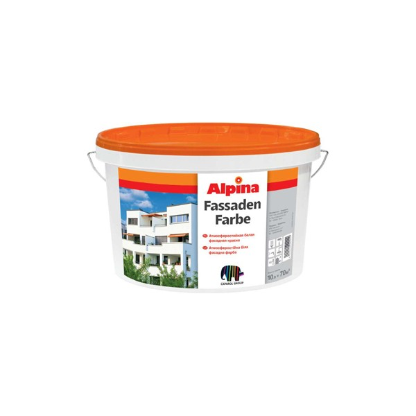Фото - Alpina FASSADENFARBE фасадная краска 10 л.