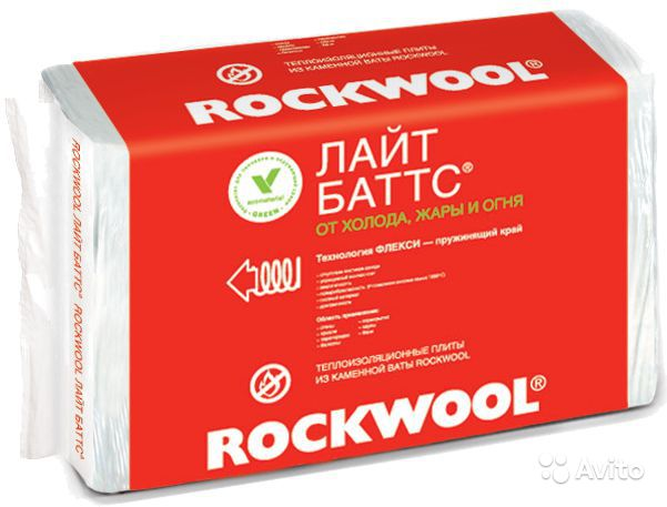 Фото - ROCKWOOL Лайт Баттс 1000*600*100 (2,4м2) (0,24м3)