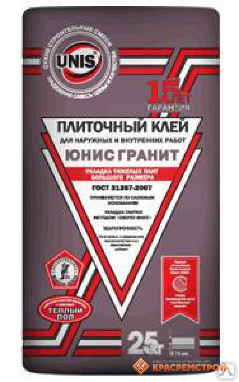 Фото - Плиточный клей Юнис Гранит 25 кг.