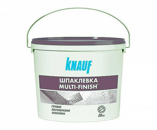 Шпаклевка полимерная Мульти-Финиш паста 20кг KNAUF, фото