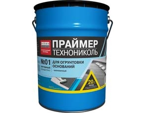 Фото - Праймер битумный ТЕХНОНИКОЛЬ №01 20кг.
