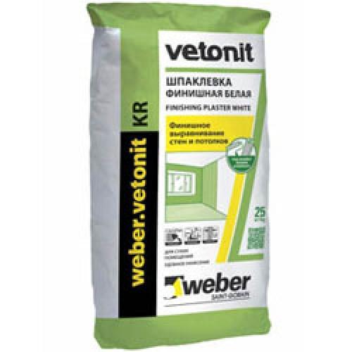 Фото - Шпатлевка полимерная Weber-Vetonit KR 20 кг