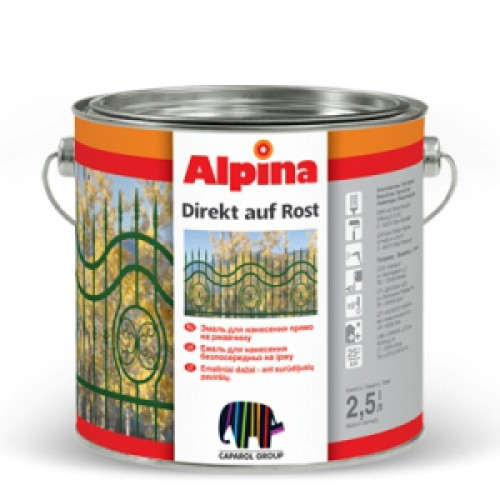 Фото - Эмаль по ржавчине Alpina DIREKT AUF ROST 0,75 л. Германия.