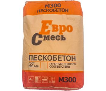 ПЕСКОБЕТОН М-300 ЕВРОСМЕСЬ 40 КГ, фото