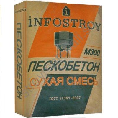 Фото - Пескобетон М-300 Инфострой 40 кг