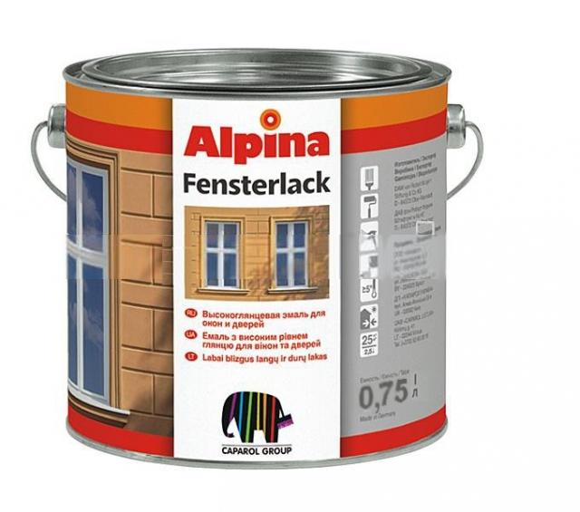 Фото - Alpina FENSTERLACK - эмаль для окон 0,75 л.