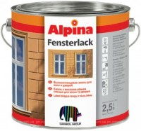 Alpina FENSTERLACK - эмаль для окон 2,5 л.
